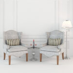 3d Interior Scene with misc furniture 3d models