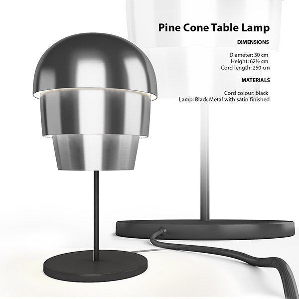Pine Cone Table Lamp 3d Model
